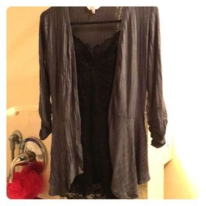 💕Candie's size XS, cardigan, gray, like new💕